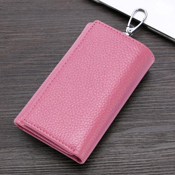 스마트 키홀더 지갑(핑크) [제작 대량 도매 로고 인쇄 레이저 마킹 각인 나염 실크 uv 포장 공장 문의는 네이뽕]