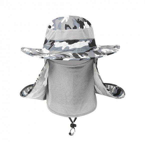 파츠 햇빛가리개 정글모자(카모그레이) [제작 대량 도매 로고 인쇄 레이저 마킹 각인 나염 실크 uv 포장 공장 문의는 네이뽕]