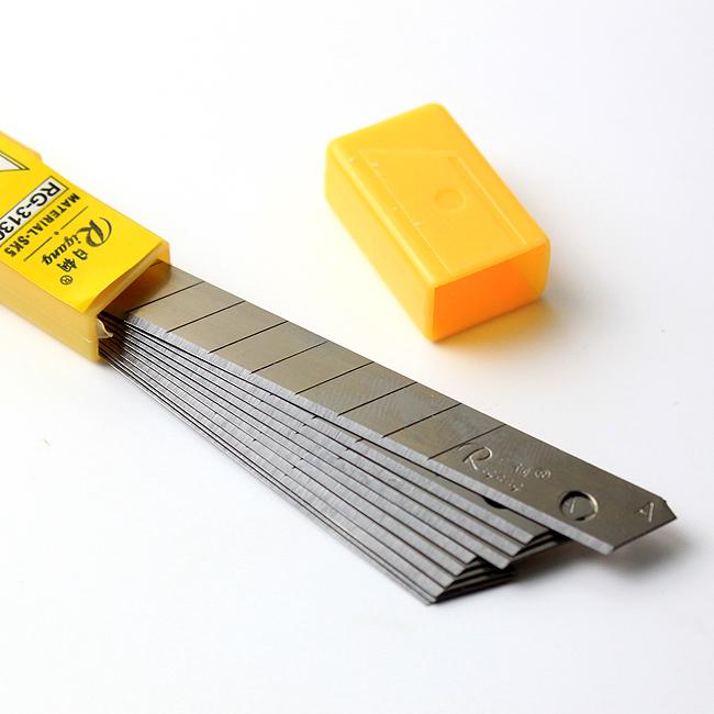 10p 리필용 9mm 커터 칼날 [제작 대량 도매 로고 인쇄 레이저 마킹 각인 나염 실크 uv 포장 공장 문의는 네이뽕]