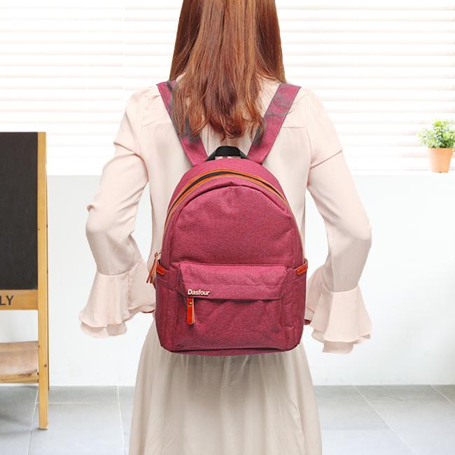 심플 포켓 백팩(핑크) [제작 대량 도매 로고 인쇄 레이저 마킹 각인 나염 실크 uv 포장 공장 문의는 네이뽕]